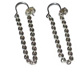 Sterling Chain Earring