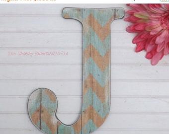SUMMER SALE Wall Letter / Letter J /Nursery Wall Letter /Large Letter Wall Decor /Chevron