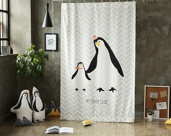 Penguin Black Out Wide Fabric Panel  for Curtains  (59 inches x 94 inches) 76420