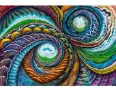 Inner Worlds - flat canvas print