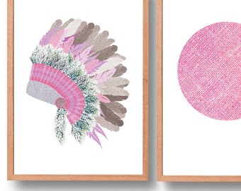 Headdress Art Print (free Aus shipping)