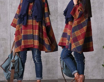 Wool Winter Coat Jacket cloak for Women