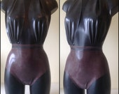 Sample Sale - Black and Brown Latex Bodysuit UK size 10