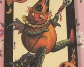 Dollhouse Miniature, Picture, Sign, Artwork, Halloween, Witch, Pumpkin, Bat, Haunted House, Ghost, Spooky