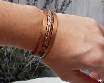 Vintage Solid Copper Cuff Bracelet~COPPER BELL~Jewelry Southwestern Navajo Style Bell Trading Post