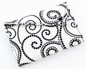 Business Card Holder - Black and White Swirls (LIMITED EDITION)