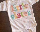 LITTLE SISTER shirt -  You Choose Sleeve Length and Shirt Color - Perfect for Family Pics, Hospital Newborn Gift, Baby Shower