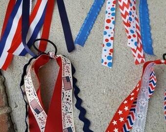 Patriotic streamer ribbons