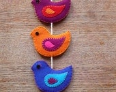 Birds wall hanging - 8 birds (made to order)