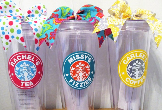 Personalized starbucks tumbler by nanasbunchdesigns on etsy for Starbucks personalized tumbler template