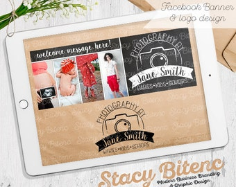 Photography logo - photography business - business branding - photography branding - Camera logo - photography props - facebook banner