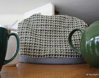 Tea Cozy 100% Wool - Masculine Teapot Insulation Device
