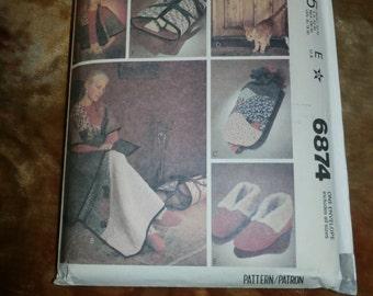 Cute Vintage 1979 McCall's Craft Pattern 6874, Gifts to Make, Uncut, Factory Folds