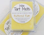 SOY Wax Tart Melt - Buttered Rum, 3 oz, Beeswax, natural, fragrance, candle, melts, home, house, gift, soy
