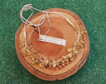 Gold Baby's Breath Crown