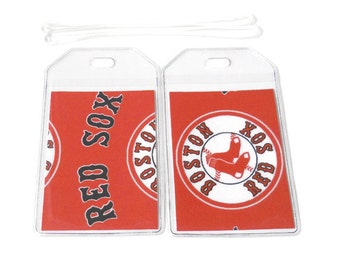 Luggage Tags Set of 2 Red Sox