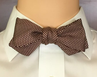 Vintage Bowtie Brown With White Polka Dots ... Beau Brummell