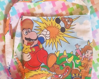 Super Mario upcycled Super Nintendo Large tote style bag