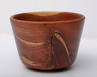 Figured Wood Bowl, Eastern Red Cedar, Turned Wood Bowl, Serving Bowl, Gift