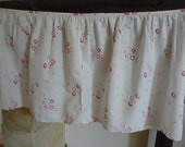 ANTIQUE FRENCH FABRIC tiny raspberry  roses antique french floral fabric fine cotton