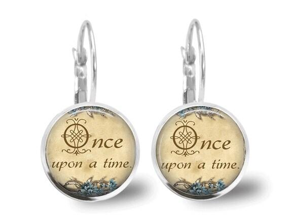 Fairy Tale Earrings Tile Earrings Fairy Tale Jewelry Glass Tile Jewelry Once Upon A Time Beaded Jewelry Beaded Earrings Brass Jewelry