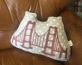CUSTOM for EKO - Golden Gate Bridge Pillow - SMALL