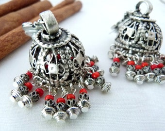 SALE!!  Sahara Sunset Silver  Jhumkas SALE!!