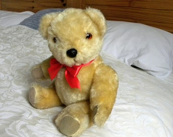 Real Soft Toys Genesis Bear - Watford England - English Teddy - 1980's Toy - Plush Bear - 12 inch Teddy