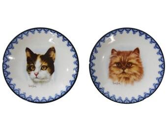 Cat Catchalls - Set of Two Cat Plates