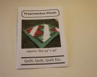 Watermelon Picnic Table Topper Pattern (USED but complete)