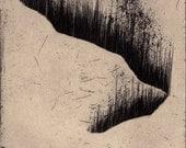 Black Aurora Study - original etching