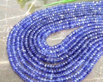 Natural Iolite 4-4.5mm Faceted Rondelle Gemstone Beads / Approx 130 pieces on 14 Inch long strand / JBC-ET-136642