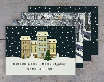 """Holiday Card """"To All a Good Night""""  5x7 (digital or printed)"""