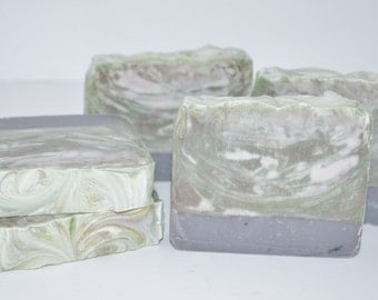 Green Irish Tweed Handmade Cold process Soap