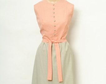 Vintage 1960s dress / 60s dress / mod dress / Summer 60s Dress / Dresses / Size xl / short dress  / retro / Large XL /  day dress