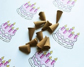 Birthday Cake Scented Cone Incense - Incense Cones - Aromatherapy - Aroma - Essense - Home Decor - Gift for Adults