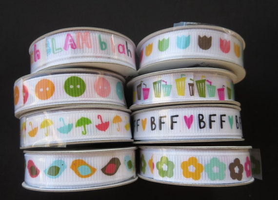 8 Spools Of American Craft Ribbon