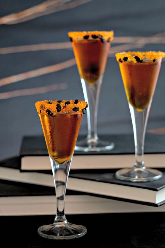 halloween cocktail rim sugar halloween bats rimming sugar drinks black bats orange sparkle sugar halloween decorations party ideas