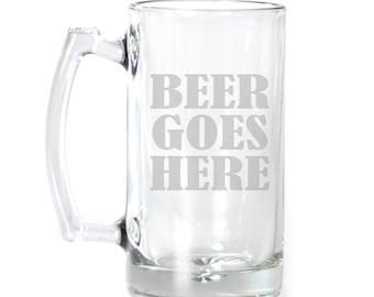 Large Beer Mug - 25 oz. - 2110 Beer Goes Here