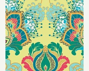 ON SALE - Artisan Emerald  (RHA-500) - Rhapsodia by Pat Bravo for Art Gallery Fabrics - By the Yard