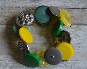 Rome Button Bracelet - Proceeds Benefit Cancer Research