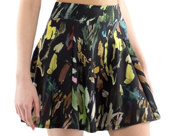 Brushstroke Skater Skirt