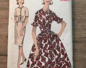 RARE 1950's Advance Sewing Pattern 2969 Misses Full Skirt Rockabilly Dress Size 16 uncut- Advance pattern, 1950s dress pattern,rockabilly