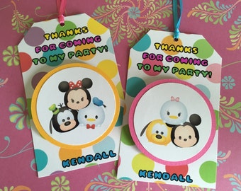 TSUM TSUM Mickey and Friends Birthday Party Favor Gift or Sticker Tags