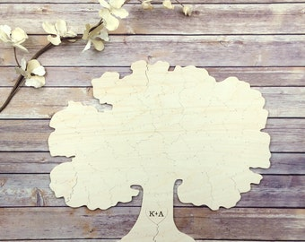 30 pc Wedding Guest Book Puzzle, guestbook alternative, weddingTREE puzzle guest book, Bella Puzzles™. Rustic barn bohemian wedding.