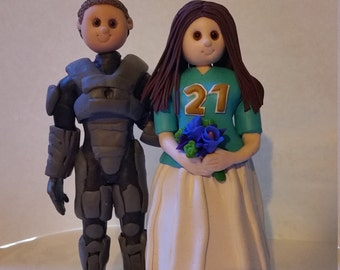 Custom Bride and Groom Wedding Cake Topper Video game