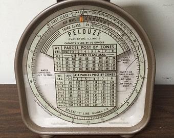 Vintage Pelouze Postal Scale Mid-Century Industrial