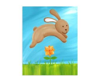 Brown Bunny Rabbit Original Art Print