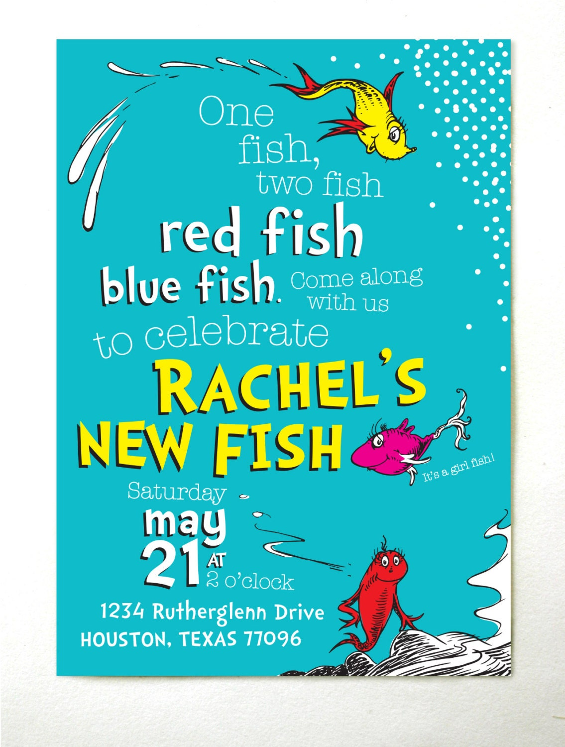 One fish two fish baby shower invitations for Fishing baby shower invitations