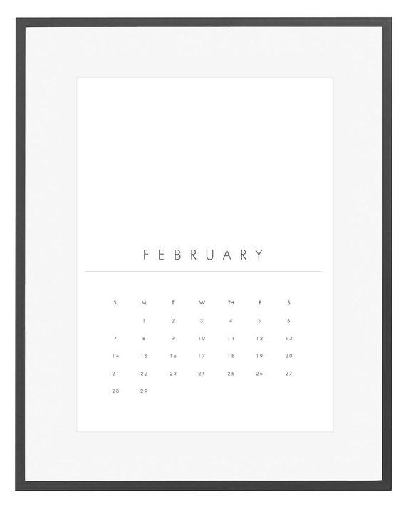Minimalist Calendar 2016 : Printable calendar wall by jpwdesignstudio
